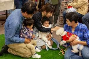 家族で保護犬譲渡会へ参加